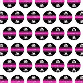 Circles Girly Skulls pink 5