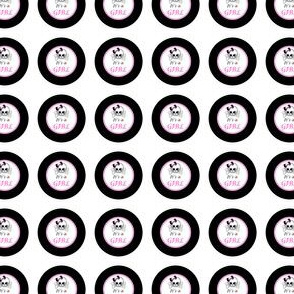 Circles Girly Skulls pink 6