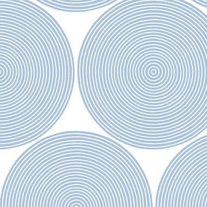 concentric circles - light blue on white