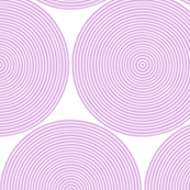concentric circles - pale lilac on white