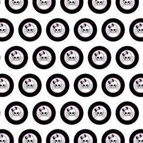 Circles Girly Skulls pink 9