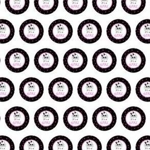 Circles Girly Skulls pink 10