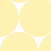 concentric circles - light yellow on white