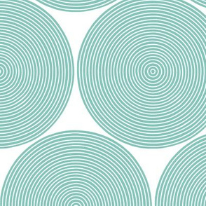 concentric circles - teal on white