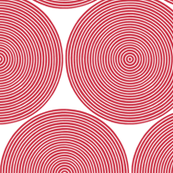 concentric circles - red on white