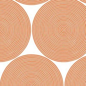 concentric circles - orange on white