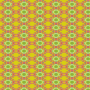 Flower Burst/Chartreuse/Pink/Green/Red/White