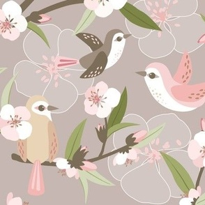 Blossom and birds