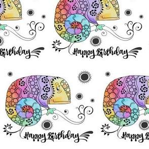 Gecko Happy Birthday Doodle