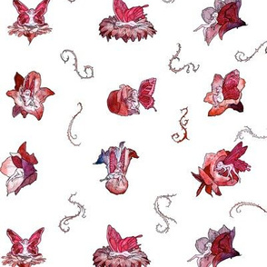 Red Faeries (Small Pattern)
