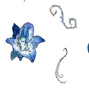 Blue Faeries (Large Pattern)