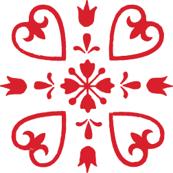 Josefina-Scandi Red & White