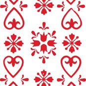 Irene-Scandi Red & White