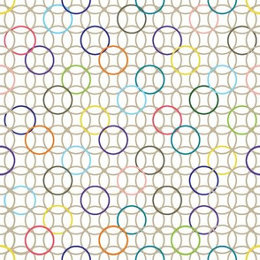 Overlapping Circles with Pops of Color