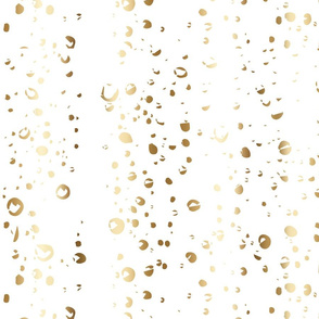 Gold Rain Drops on Window Snow