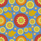 Festive Kiku - Autumn Blue