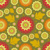 Festive Kiku - Autumn Khaki