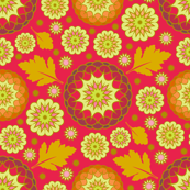 Festive Kiku - Autumn Red