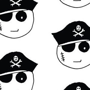 Pirate Kawaii Emoji White