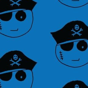 Pirate Kawaii Emoji Blue