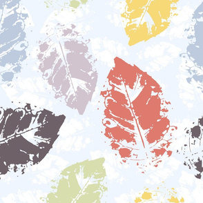 Pattern with autumn watercolor leaves.