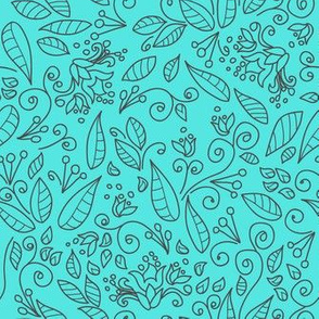 Abstract background with leaves and branches. Spring mood.