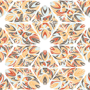 Abstract geometrical hand-drawn pattern