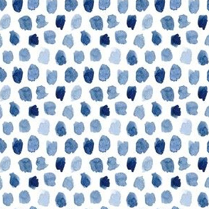 Watercolor Abstract Shapes in Blue Small