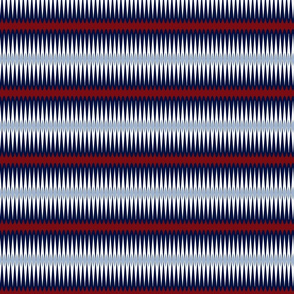 Red Indigo Blue Diamond stripes