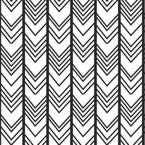 Black Chevron - Reversed - herringbone