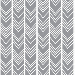 Grey Chevron - grey herringbone