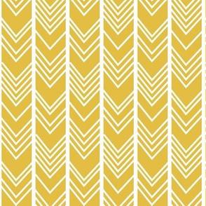 Mustard Chevron - herringbone