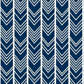 Navy Chevron - navy herringbone