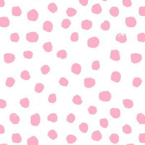 pink painted dots girls nursery baby painted dots