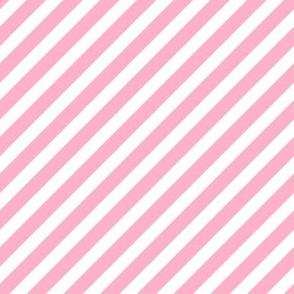 pink diagonal stripes girls baby nursery sweet little girls print