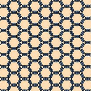 Art Deco Geometric Rectangles In Circles Pattern