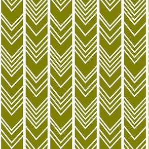 Olive Chevron - herringbone