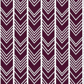 Deep Eggplant Purple Chevron - herringbone