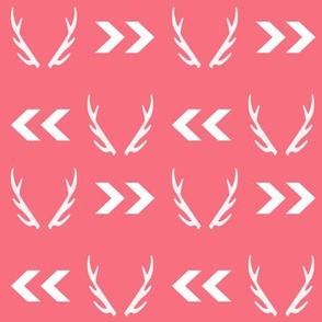 antler baby coral cute chevron coral blush girls antlers