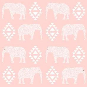 geo elephant baby pink girls nursery baby pink