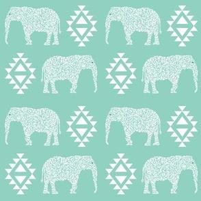 elephant mint nursery baby geo geometric kids