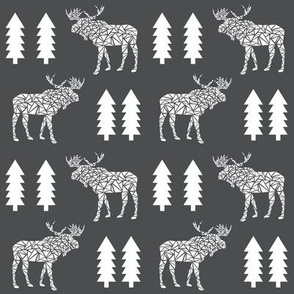 moose charcoal kids camper camping moose trees charcoal nursery boys