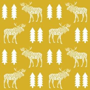 moose mustard yellow trees kids baby forest baby nursery sweet kids