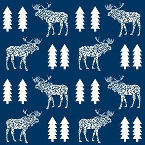 moose navy blue kids boys navy blue camper camping canada forest tree moose mooses boys
