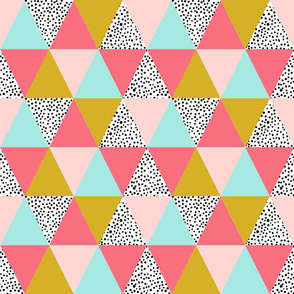 triangle cheater quilt blush pink mustard mint kids baby nursery crib sheet blanket minky