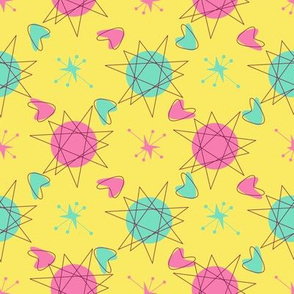 Atomic Shapes-Yellow