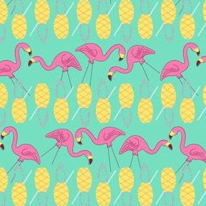Flamingos and Pineapples-Mint