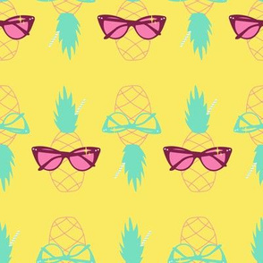 Sunnies and Pineapples-Yellow