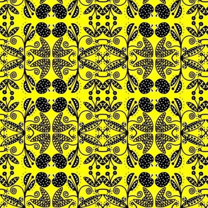 Summer Orchard Yellow Black