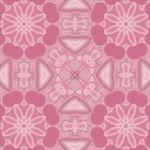 Warm Pink Kaleidoscope Flowers